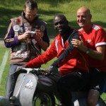 George Weah giocatore di calcio dell'AC Milan