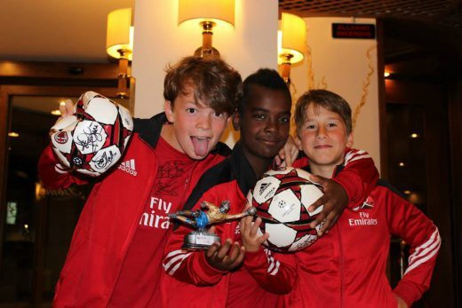 Three boys have won the cup at AC Milan Football Camp