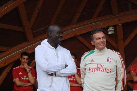 Fulvio Fiorin and George Weah AC Milan Soccer Camp