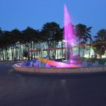 Giochi luce fontana Lignano Sabbiadoro