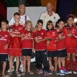 Prati AC Milan premiazione coppe Lignano
