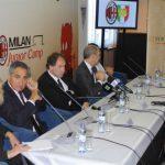 Michele Marchioni Sporteventi e Franco Baresi AC Milan a Bratislava Slovacchia