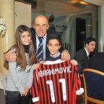 Pierino Prati con maglia AC Milan Ibrahimovic