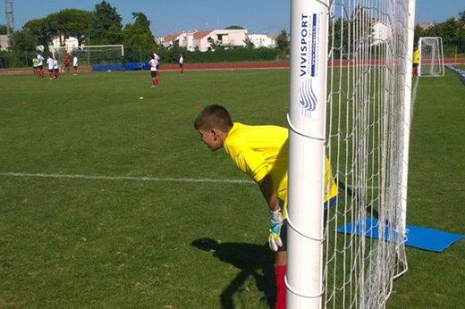Vivisport goal and football technical gears at AC Milan Camp Sporteventi