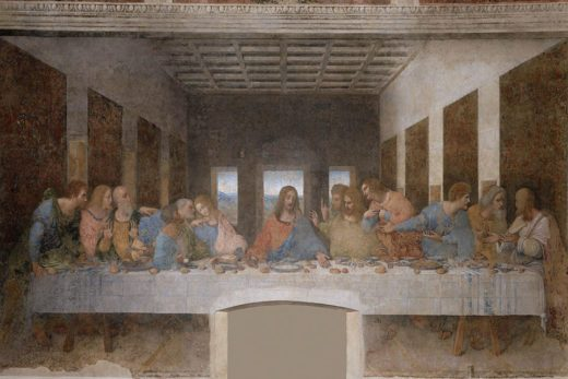 Ultima cena di Leonardo da Vinci, Milano, Italia