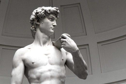 Il David di Michelangelo, Firenze, Italia