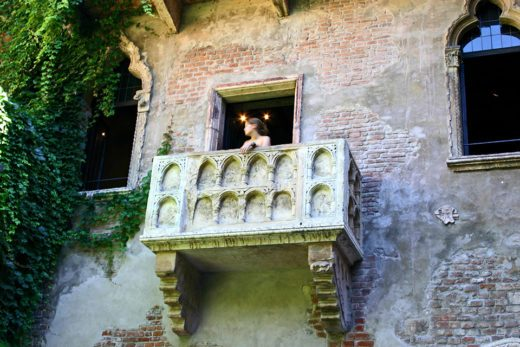 Romeo and Juliet's balcony in Verona, Italy