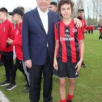 Galliani and boy at AC Milan Junior Camp Day 2017