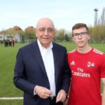 Galliani with Sporteventi staff at AC Milan Junior Camp Day 2017