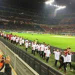 AC Milan Junior Camp Day, boys in the Giuseppe Meazza Stadium of San Siro