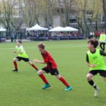Partita di calcio al Milan Junior Camp Day