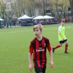 Boy plays football at AC Milan Junior Camp Day