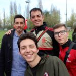 Sporteventi staff and José Sosa at AC Milan Junior Camp Day