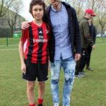 José Sosa with boy at AC Milan Junior Camp Day