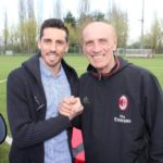 José Sosa and Pierino Prati at Milan Junior Camp Day