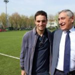 Bonaventura and Marchioni at AC Milan Junior Camp Day