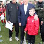 Prati and Galliano with boy at AC Milan Junior Camp Day
