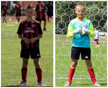Kit Sportivo AC Milan Academy Junior Camp per giovani calciatori e portieri