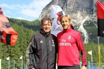 Stefano Eranio and Massimo Ambrosini at the AC Milan Academy Junior Camp Sporteventi