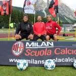 Eranio, Santochirico, Ambrosini in the AC Milan Academy Camp of Cortina d'Ampezzo