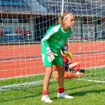 Goalkeeper girl in the AC Milan Academy Camp
