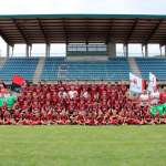 The young players of the AC Milan Academy Camp in the Jesolo Stadium (Venice)