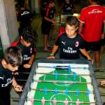Boys playing table football during the AC Milan summer camp in Lignano Sabbiadoro