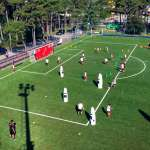 The palying field of the AC Milan Academy Camp at the sports tourist village in Lignano Sabbiadoro