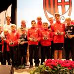 Awards ceremony of the kids at the AC Milan Junior Camp in Cortina d'Ampezzo