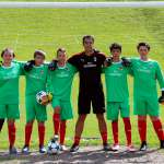 Young goalkeepers in the AC Milan Academy Camp