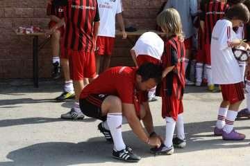 AC Milan Camp staff affection and safety for children