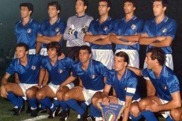 Pietro Vierchowod in the Italian national football soccer team