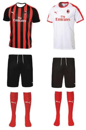 T-shirt and pant of the AC Milan Milan Junior Camp sport kit